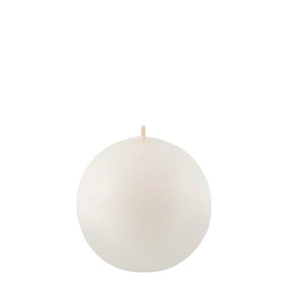 ŚWIECA świeczka OZDOBNA dekoracyjna biała kula10cm