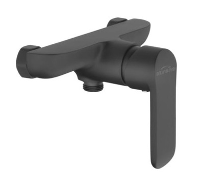 sprchové Batérie, wall mount čierna Mat
