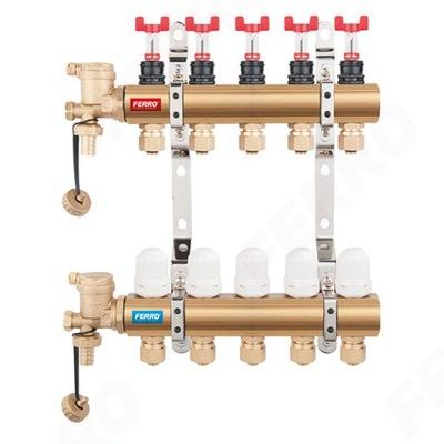 Distribútor 6-cestný ventil s N-RZP06S Železných