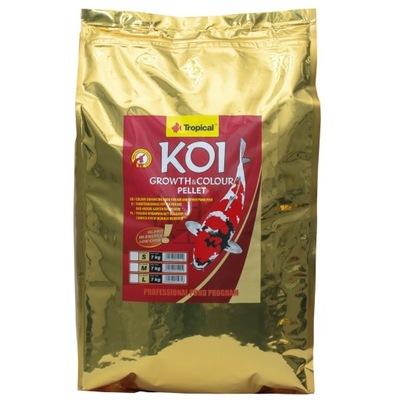 Tropical KOI RAST a FARBU PELETY S 7 kg