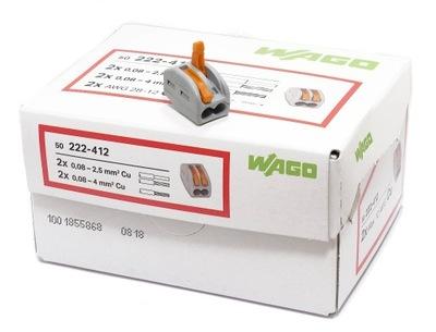 Kompresia 222-412 Wago 2x0,8-4 mm, 50 kusov