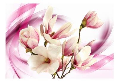 Nástenné maľby optická 3d Magnolia kvetinový vzor, 200x140