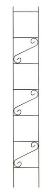 Stojan kovová Záhradná Pergola 180 cm, Čierne