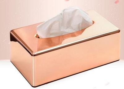 коробка Салфетки емкость розовое ROSE GOLD