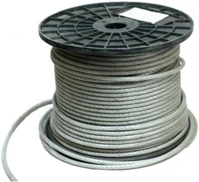 1 m lano, Oceľový Kábel, 8 mm PVC CERTIFIKÁT