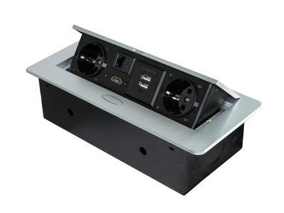 Pätica mortise blatowe nabíjačka, HDMI, USB, RJ45