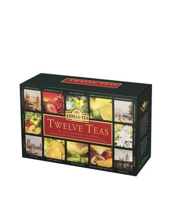 Ахмад Twelve Teas 12x 5 конвертов в коробке