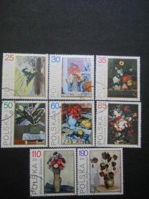 Polska - Fi.3089-96 - kwiaty malarstwo - kasowane