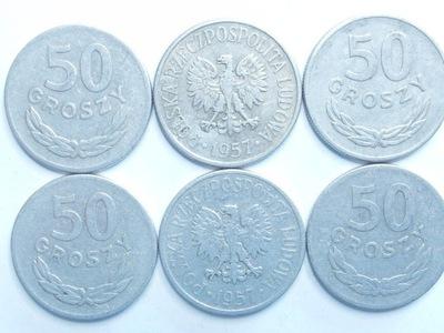 Монета 50 gr копеек 1957 года красивая