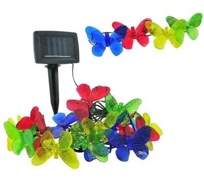 огни солнечное садовое ВЕНОК LED бабочки x20