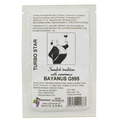дрожжи винных BAYANUS G995 50g вино виноваты 17 %