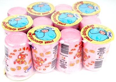 Сахарная вата розовая 12 штук x 500 мл