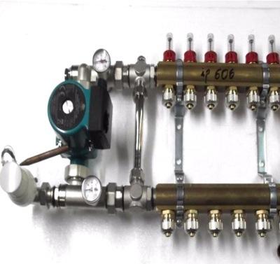 Predné podłogówki 7 čerpadla rotametry .600
