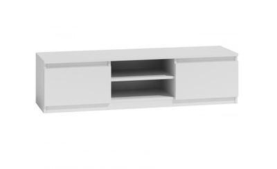 Biała szafka pod TV 140x40 cm drzwiczki