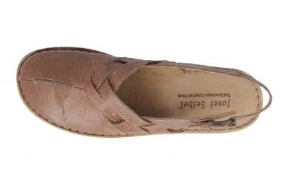 Beżowe sandały damskie Seibel r.43 28 cm AŻUROWE