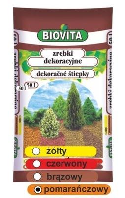 Zrębki drzewne BIOVITA 50 L kolor pomarańczowy