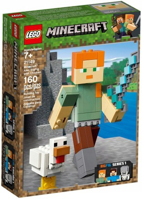LEGO MINECRAFT 21149 BigFig Alex kuracie