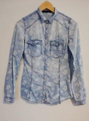 6e3478a6 jasna niebieska jeansowa koszula cyrkonie XL/42 - 7688131606 ...