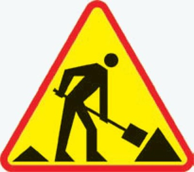 Дорожный знак дорожные работы  -14 750, И поколения