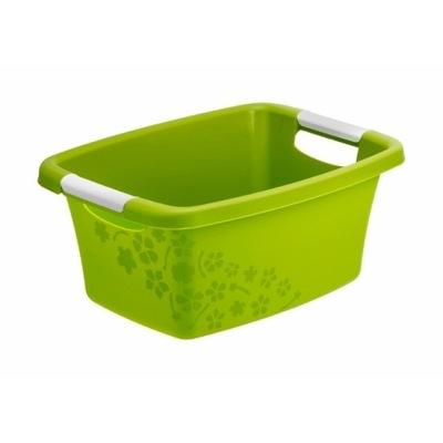 Miska na pranie do magla 12 L FLOWERS zielony