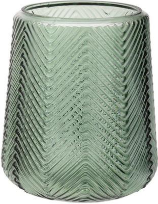 Dekoratívne sklenené vázy tmavo zelená 16x19cm
