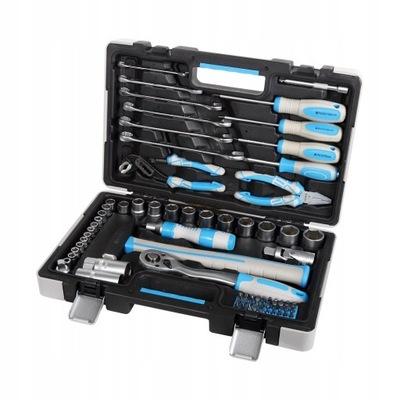 комплект инструментов для домашнего мастера 75el мега 58075
