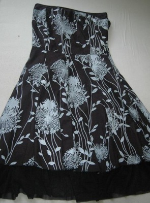 ;'WŁOSKA piekna sukienka super wzor  r 34/36,grati