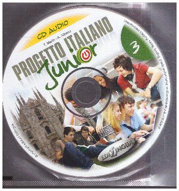 Progetto italiano Junior 3 - CD audio NOWA włoski