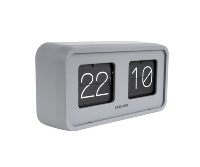 Odvážne tabuľka hodiny Flip matt grey podľa Karlsson