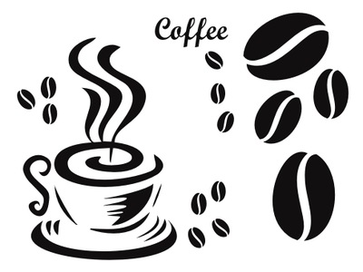 Naklejka na Sciane Kuchni Kuchnia Kawa  NOWE WZORY