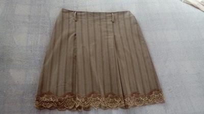 Sinequanone beżowa spódnica koronka - 40