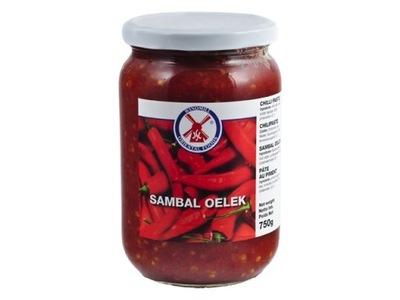Самбал Oelek 750 г - очень острый соус - 86% чили