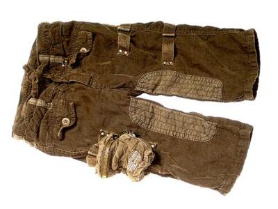 OLIWKOWE spodnie bojówki miękki sztruks ___ 68
