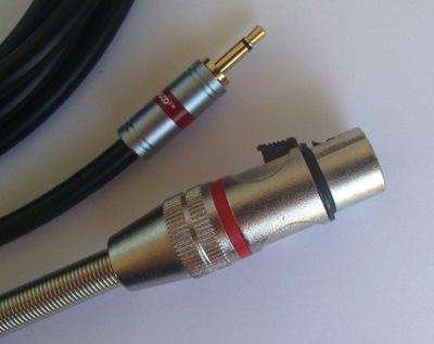 IMG kabel  mini Jack mono / XLR  żeński 3P    1.5m