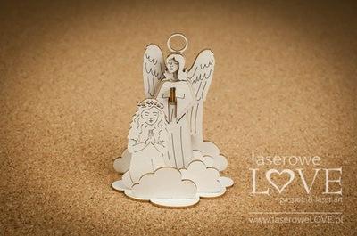 Tekturka - ангел Хранитель с девочкой, 3D - White