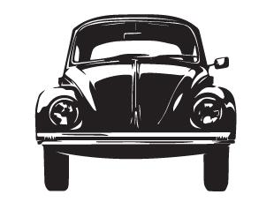 Nástenná samolepka - Nástenná samolepka - VW chrobák, propagácia garbusek!