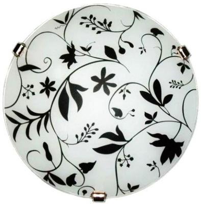 Plafoniera 30 cm KOLIESKA sklenené tienidlo E27 white black