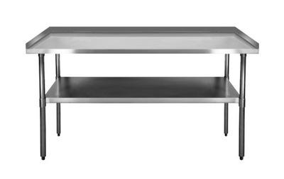 Pracovný stôl, stavebný podstavec -  PRACOVNÁ TABULKA NEREZOVÝ OCEL 1800x600 MM 3xRANT FV