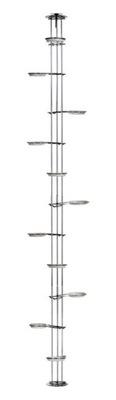 Kwietnik rozporowy 250cm Chrom Stojak na Kwiaty 11