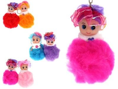 Брелок кукла помпон 8 ,5x5cm микс цвета