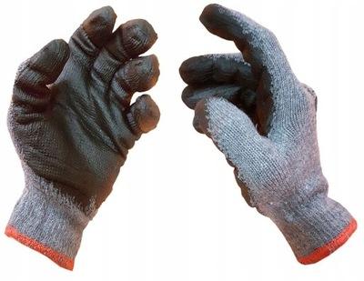 перчатки рабочие 120 ПАР DRAGO покрытые пленочной ОБОЛОЧКОЙ Серые XL