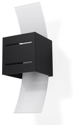 Moderné čierne Nástenné svietidlo nástenné LORETO G9