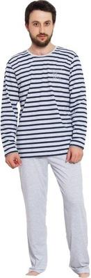 3a434f1183008b Gazzaz piżama męska bawełna żółta błękit rekin L - 3875503508 ...