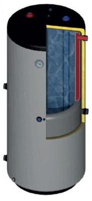EMMETTA solárne 180 Liter kliešte vyrobený z Teflónu kotla výmenník tepla 2W