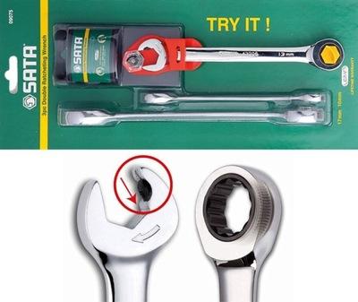 Kľúče kruhovú ratchet s 2x SATA 09075