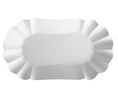 Ракушка лоток Бумажная белая на картошку 10x17 250