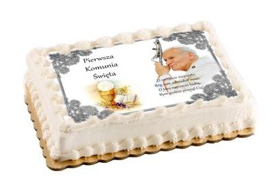 вафля на торт komunijny на общение большой a4 надпись
