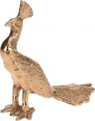 Dekorácie Figúrka páva v zlate 21x8,5x18cm