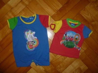 DISNEY fajny rampers + bluzeczka dla Smyka r.62/68