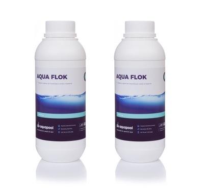 2x 1l Aqua kvapaliny koagulantov Flok flok chémie